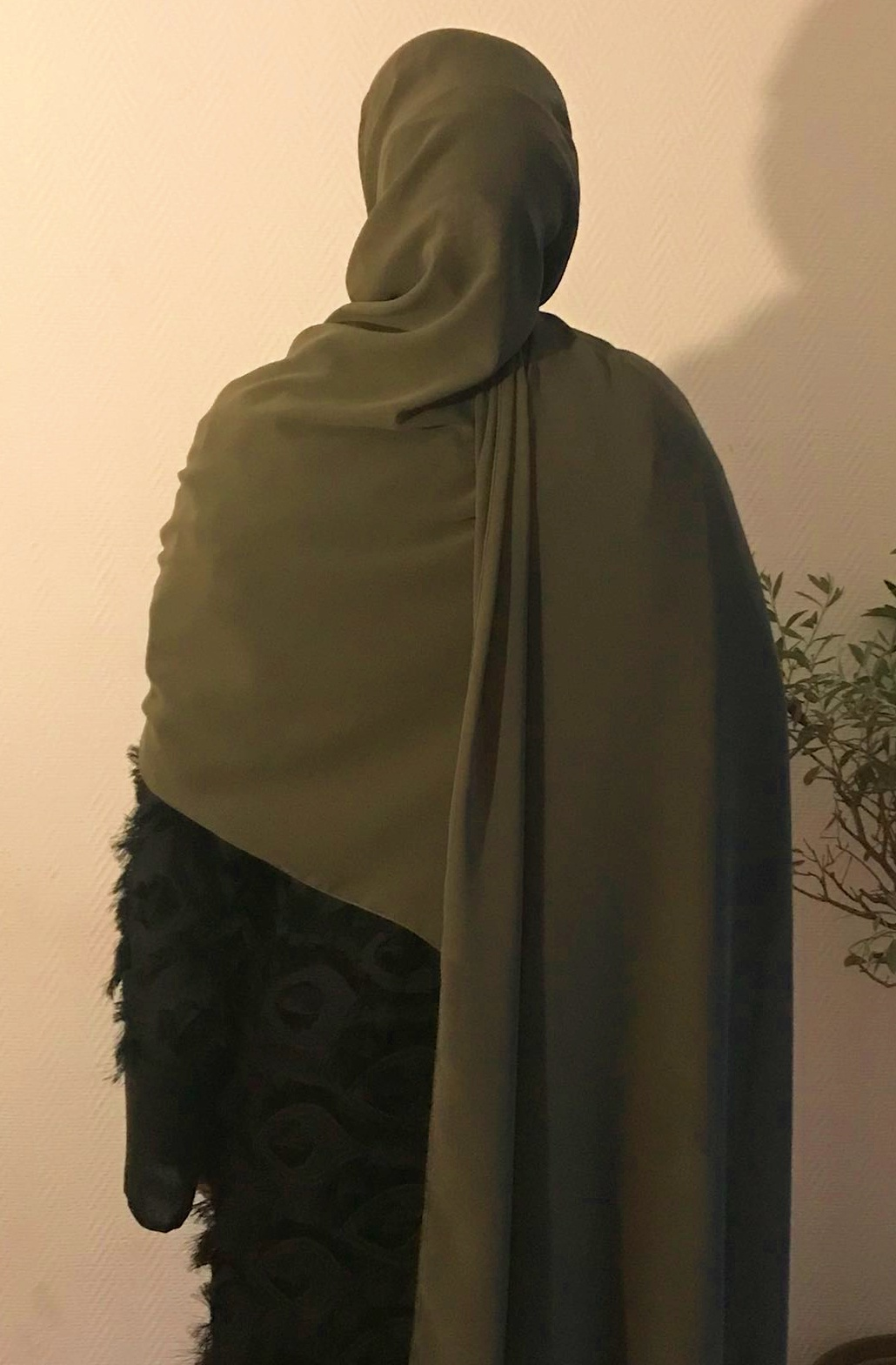 Maxi Hijab Vert Kaki Abaya Women